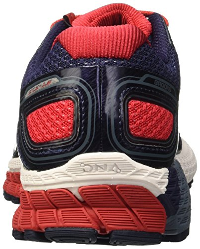 Brooks Adrenaline Gts 16, Zapatillas de Running para Hombre Multicolor (Peacoat/High Risk Red/China Blue)