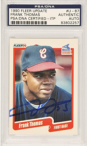 Frank Thomas Chicago White Sox Autographed 1990 Fleer Upd...