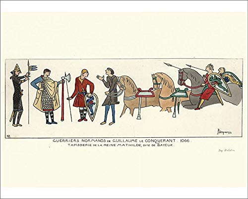 Media Storehouse 10x8 Print of Norman Warriors of William The Conqueror, 1066 (19604163)