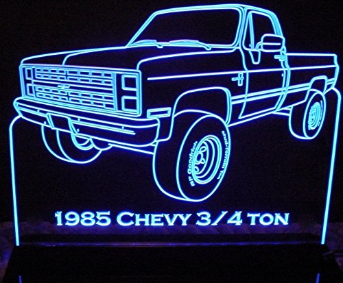 (1985 Chevy Pickup Truck 3/4 Ton Acrylic Lighted Edge Lit LED 13