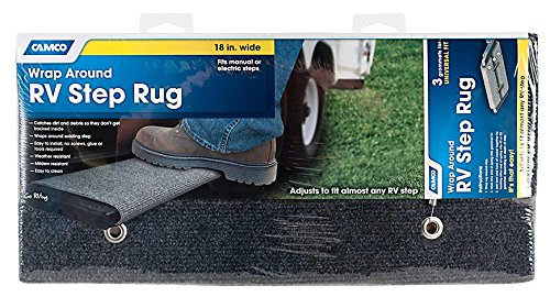 Camco 42925 18'' Step Rug Grey by Camco