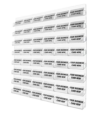 Marketing holders 48 pocket wall mount business card holder rack save reheart Gallery