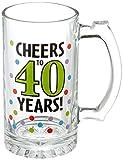 Amscan Swank 40th Birthday Tankard, Green Multicolored Dots, 15 oz