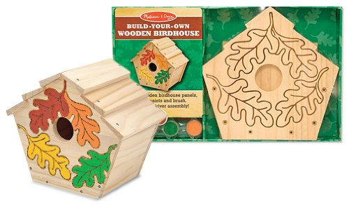 Wooden Birdhouse Build-Your-Own Kit + FREE Melissa & Doug Scratch Art Mini-Pad Bundle [31011]