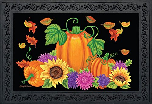 Briarwood Lane Bountiful Harvest Fall Doormat Pumpkin Sunflowers Indoor Outdoor 18