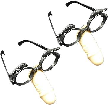 Amosfun 2 Piezas Gafas de Disfraz con Nariz Divertida Gafas de ...