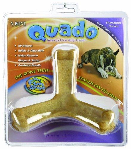 Quado Interactive Dog Chew Treat, Pumpkin Flavor, Ginormous by NPIC-The Makers of N-Bone (Natural Polymer Interna (English Manual)