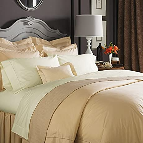 Sferra Celeste Linens Standard Pair Pillowcases Ivory By Sferra Bros