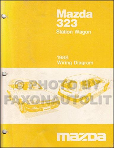 1988 Mazda 323 Station Wagon Wiring Diagram Manual Original