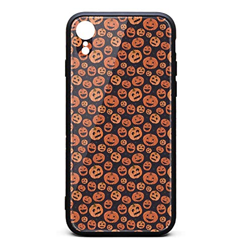 iPhone XR Case Happy Halloween-Pumpkin Slim Anti-Scratch Flexible TPU Bumper Cover Skin Case for iPhone XR Case [6.1 inch]