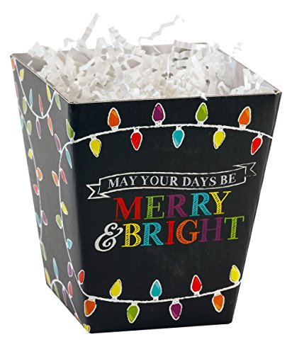 Premier Retail Sweet Treat Box, Merry and Bright Chalkboard, 6 (Merry Treat)
