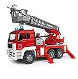 Bruder 02771 MAN Feuerwehr mit Drehleiter, Wasserpumpe und Light/Sound Modul