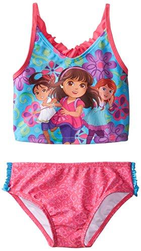 Disney Little Girls' Toddler Dora and Friends Tankini, Multi, 3T