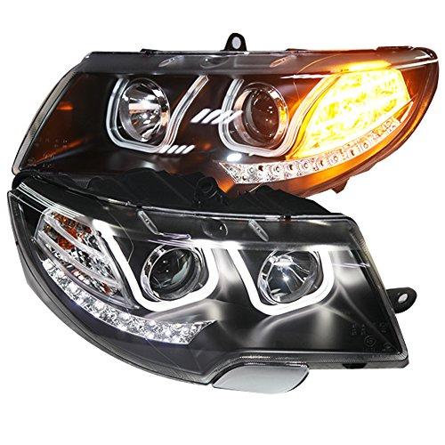 Generic 2009 to 2013 Year for Skoda Superb LED Head Lamp Angel Eyes U Style LD -  Sunny, Sun-1151