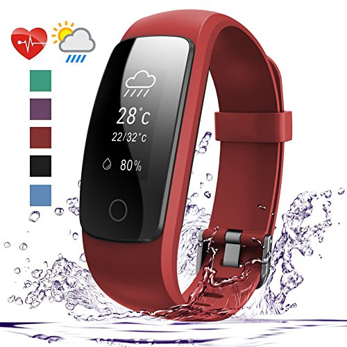007plus Fitness Tracker, D107Plus Heart Rate Monitor Fitness Smart Watch Activity Tracker with Sleep Monitor IP67 Waterproof Pedometer Smart Wristband - Connect Quick Ella