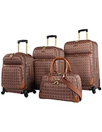Luggage Set 4 Piece Expandable Softside Suitcase With Spinner Wheels df8fa57d5ea4e