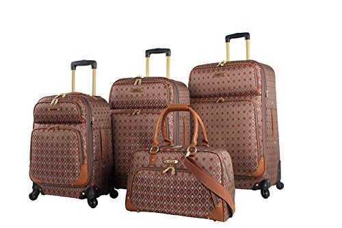 Rosetti Lighten Up Luggage Set 4 Piece Expandable Softside Suitcase With Spinner Wheels (Lighten Up ()