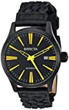 Invicta Men's 'I-Force' Automatic Stainless Steel and Leather Casual Watch, Color:Black (Model: 23779)