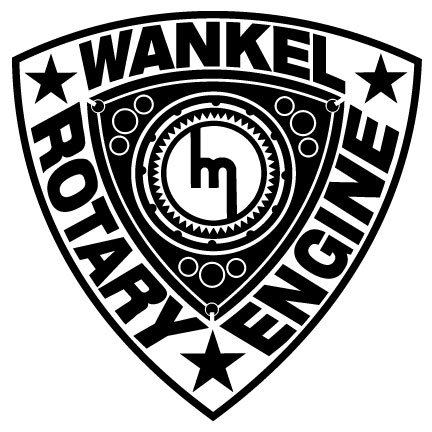 Wankel Rotary Engine Decal - ()