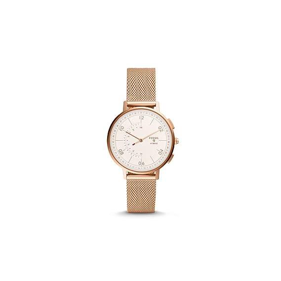 Reloj Inteligente híbrido Fossil Q Harper de Oro Rosa de Acero Inoxidable para Mujer (FTW5028
