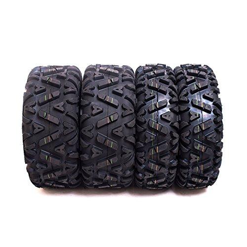 SunF A033 ATV/UTV Tires 24x8-12 Front & 25x11-10 Rear, Set of 4