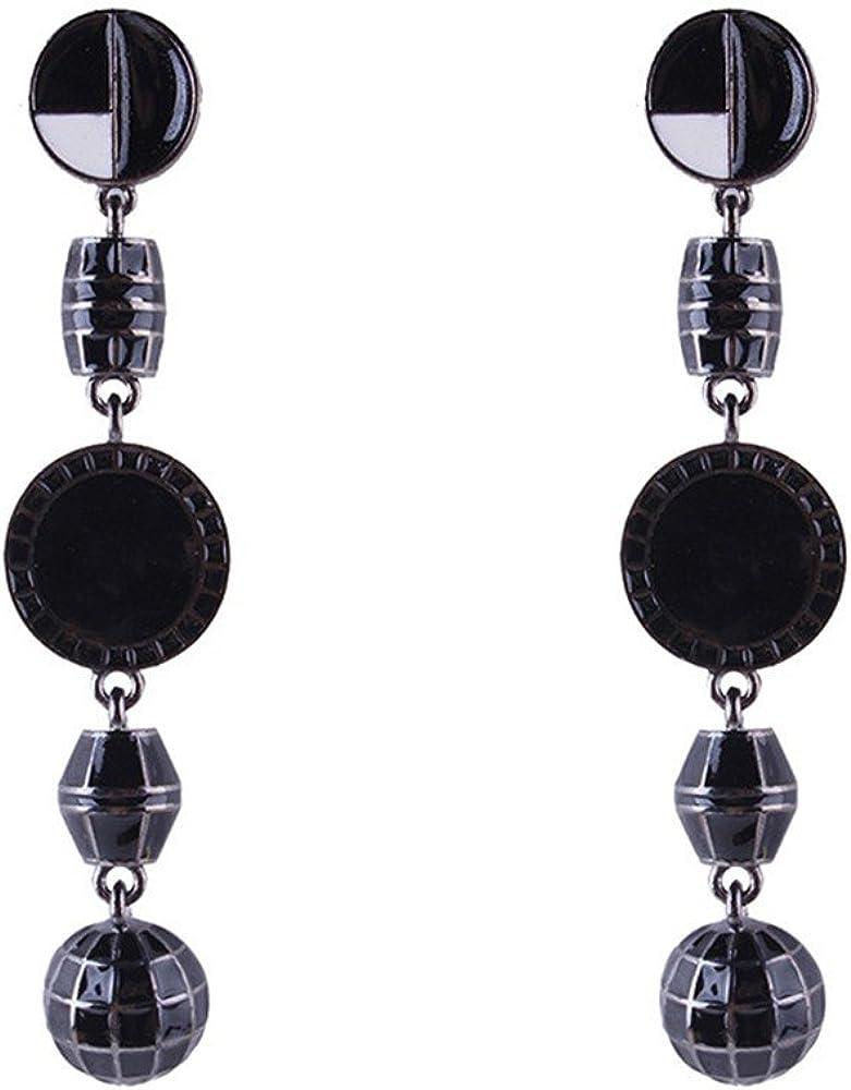 MEEOI exageración de la moda Ear Stud Earrings Ear Hoop 925 de plata esterlina para mujer, Aleación Piedras preciosas Accesorios exquisitos Pendientes