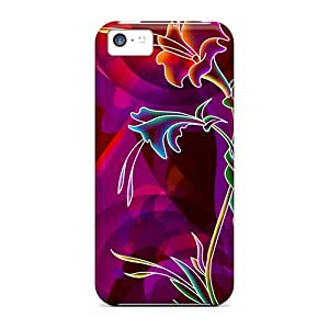 Excellent Design Flower Case Cover For Iphone 5c