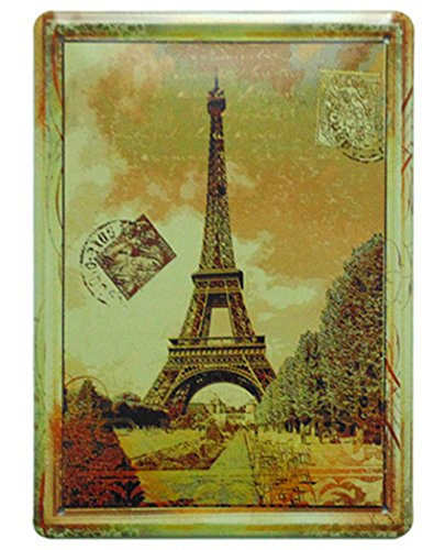 FLY SPRAY Eiffel Tower Landscape Buildings Places Of Interest Decorative Signs Tin Metal Iron Sign Painting For Wall Home Office Bar Coffee Shop
