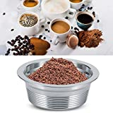 Stainless Steel Refillable Coffee Capsules Reusable Espresso Capsule Cup Filter Set with Lids Spoon and Brush for LAVAZZA A MODO MIO Coffee Machine