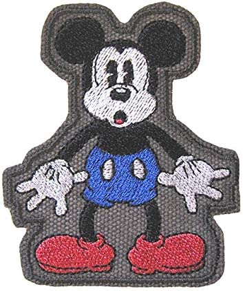 Patch Iron-On Head of Mouse Embroidered Applique Patches For Kids Vintage