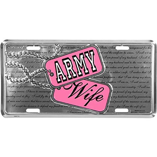 Honor Country Army Wife License Plate, -