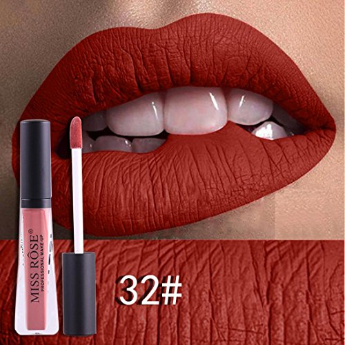 Binmer Long Lasting Lipstick Waterproof Matte Metal Lip Glos