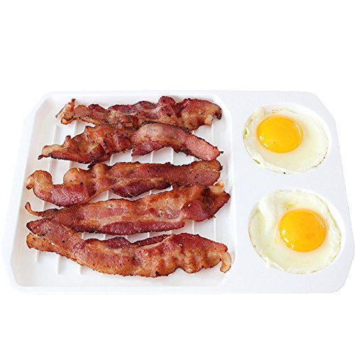2 in 1 Microwave Bacon and Egg Cooker,Mexidi Microwave Oven Bacon Baking Tray Kitchen Cooking Accessories Gadgets