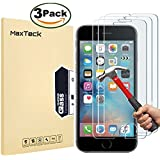 "[3 Pack] iPhone 6 6S 7 8 Screen protector, MaxTeck 0.26mm 9H Tempered Shatterproof Glass Screen Protector Anti-Shatter Film for iPhone 6 6S 4.7"" inch [3D Touch Compatible]"