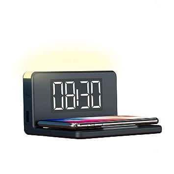 Ksix Reloj Despertador Cargador INALÁMBRICO Fast Charge 7.5W-10W Y LUZ DE Noche