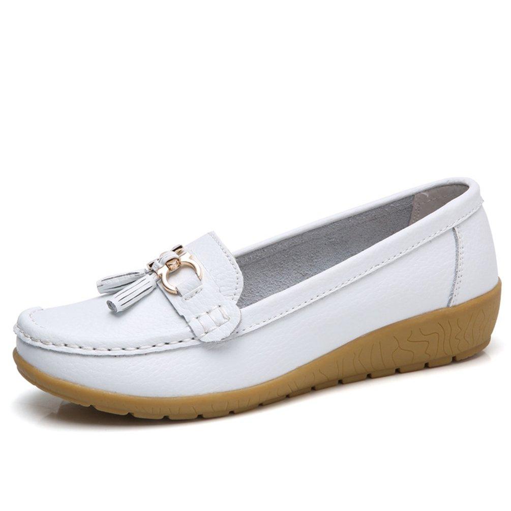 JRenok Chaussures de Printemps Femme 35-41 Mocassins en B012OBQCEK Cuir Loafers Souple Casual Boucle Confort Chaussures Plates Loafers Antidérapante 35-41 Blanc 4a4dc0f - boatplans.space