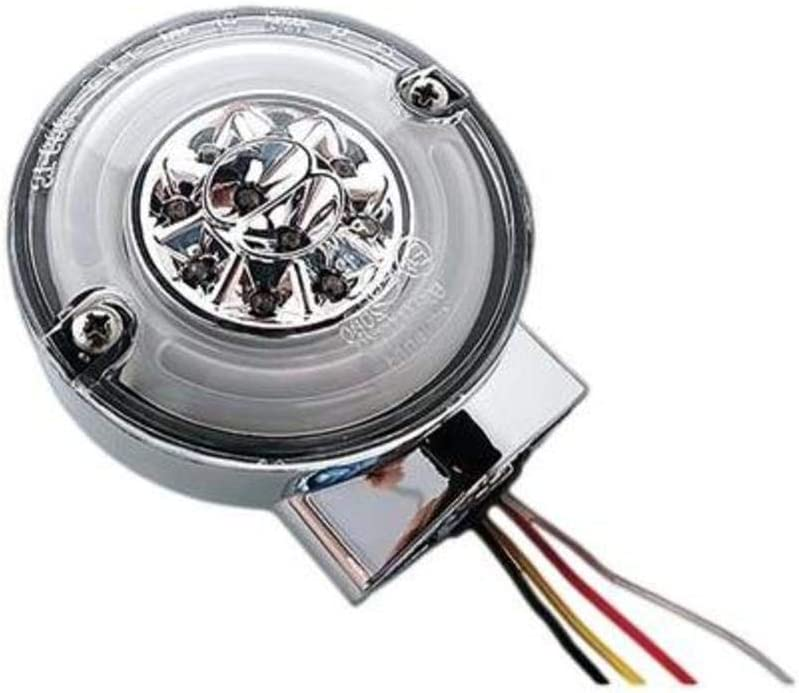 HardDrive 164502 Amber//Red Chrome with Clear Lens Turn//Stop Combo Led