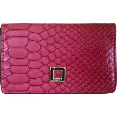 Lodis Crescent Heights Mini Card Case (Ruby), Bags Central