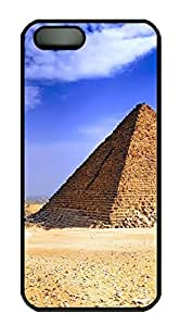 iPhone 5 5S Case Egyptian Pryamid PC Custom iPhone 5 5S Case Cover Black