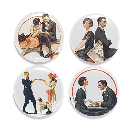 Buttonsmith Norman Rockwell Love 1.25