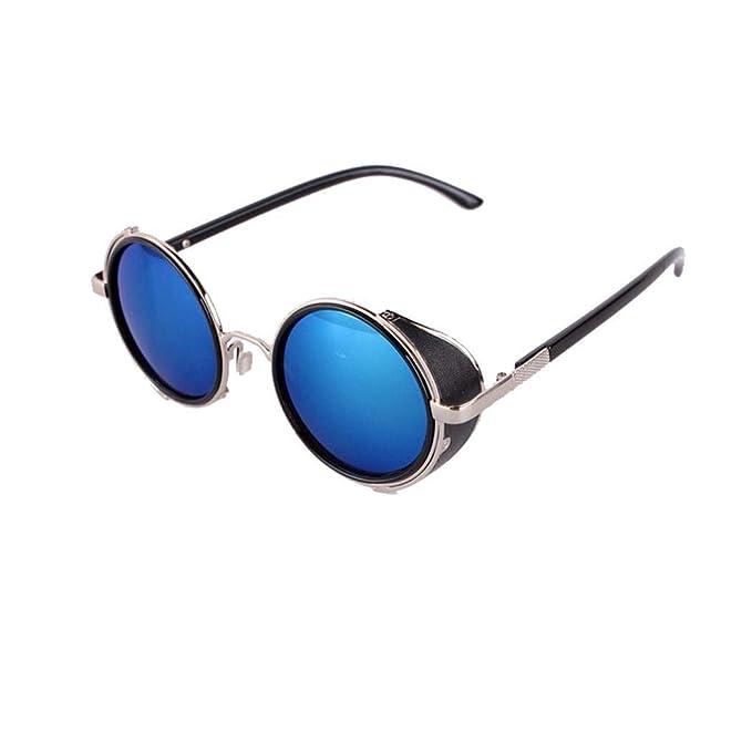 Murieo Gafas de sol estilo retro para hombre Gafas de sol con montura redonda Gafas de sol