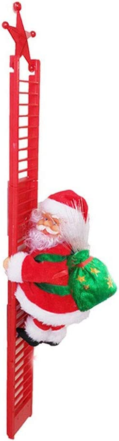N / A Escalera de escalada Papá Noel, juguete eléctrico de ...