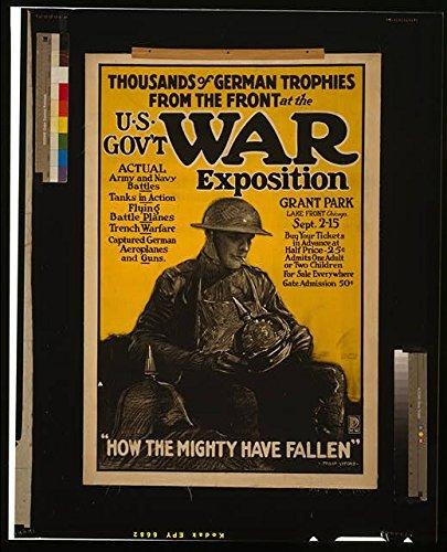 Photo: World War I, WWI, American Soldier, German Helmets, Destruction, Pillage, 1917 . Size: 8x10 (]()