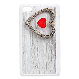 Heart on Wood iPod Touch 4 Case White Xxyqx