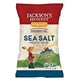 JACKSONS HONEST Potato Chips-With Coconut Oil Sea Salt At least 95% Organic 5 oz
