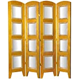 Oriental Furniture 5 1/2 ft. Tall Photo Shoji Screen - 4 Panel - Honey