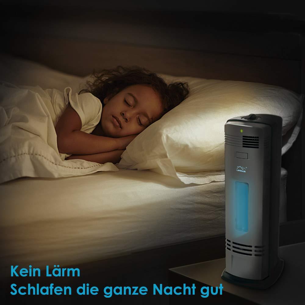 Luftreiniger Ionisator Air Purifier UV Negatives Ion Kohlefilter HEPA 4 Stufen Filter Ruhig Filterung f/ür Allergie LED Anzeige f/ür Allergiker und Raucher