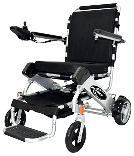anzit Foldable Lightweight Power Wheelchair, Silver, 42 Pound (Foldable Power Wheelchair)