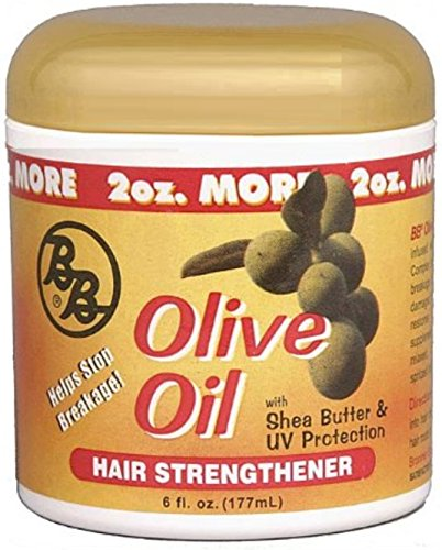 Bronner Brothers Olive Oil Hair Strengthener, 6 oz Pack of 12
