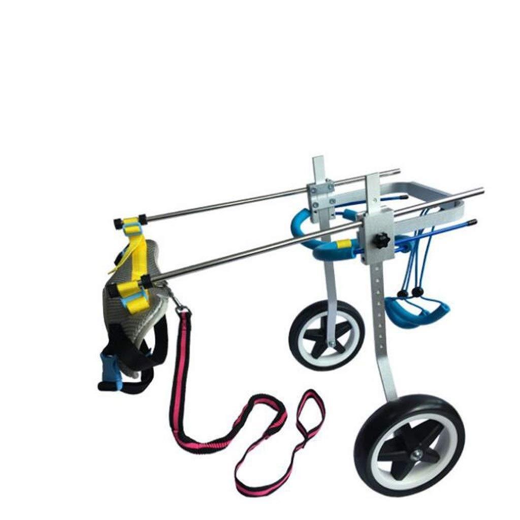 麻痺障害犬補助用品、犬車椅子老犬スクーター、障害犬補助後肢スポーツカー、自由に調整可能なサイズ、麻痺障害犬、大型補助ブラケット車椅子 (Size : M)  Medium